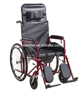 Semi-reclining commode wheelchair ALK690GC