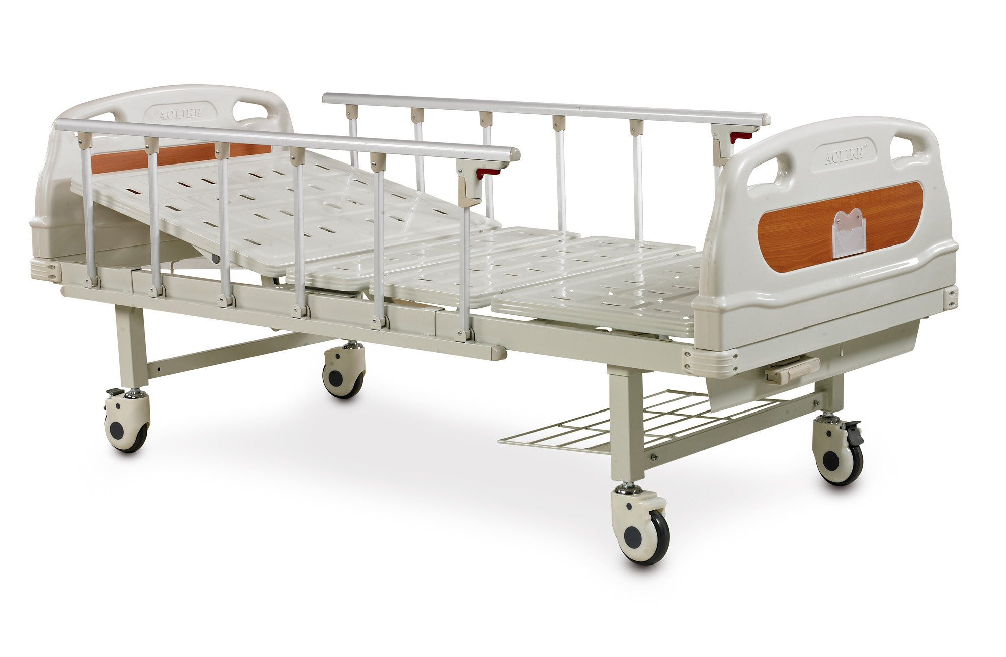 Single crank Thigh quality and cheap manual fowler bed