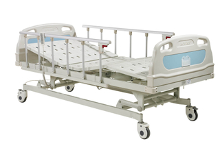 Three function electric hospital bed
